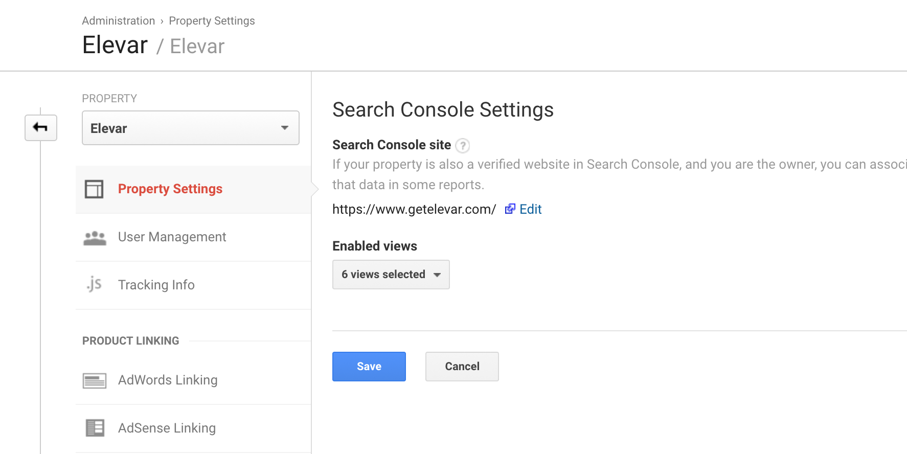 Search Console GA Connection