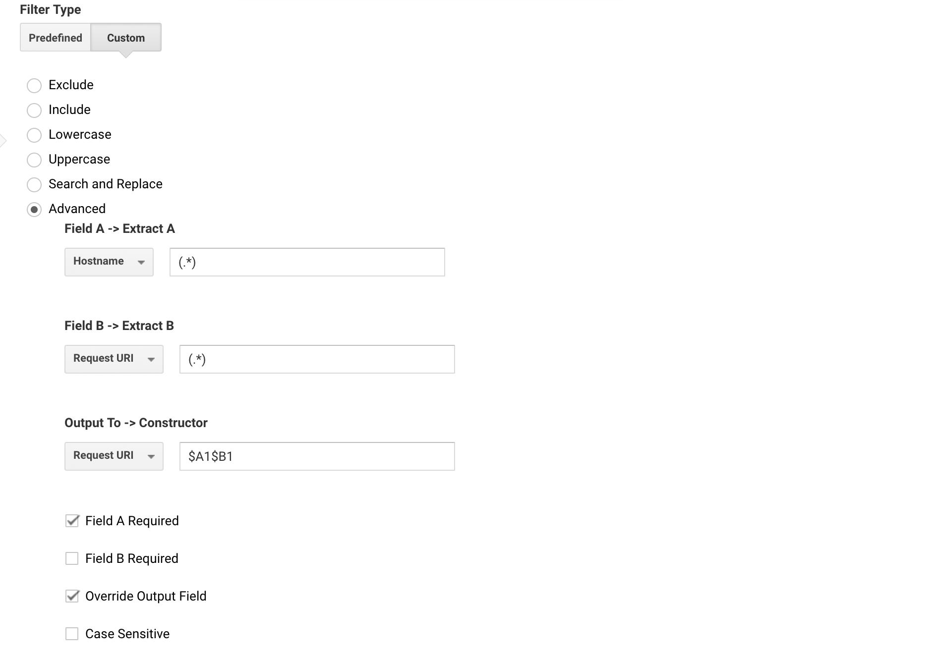 Include Hostname in URL