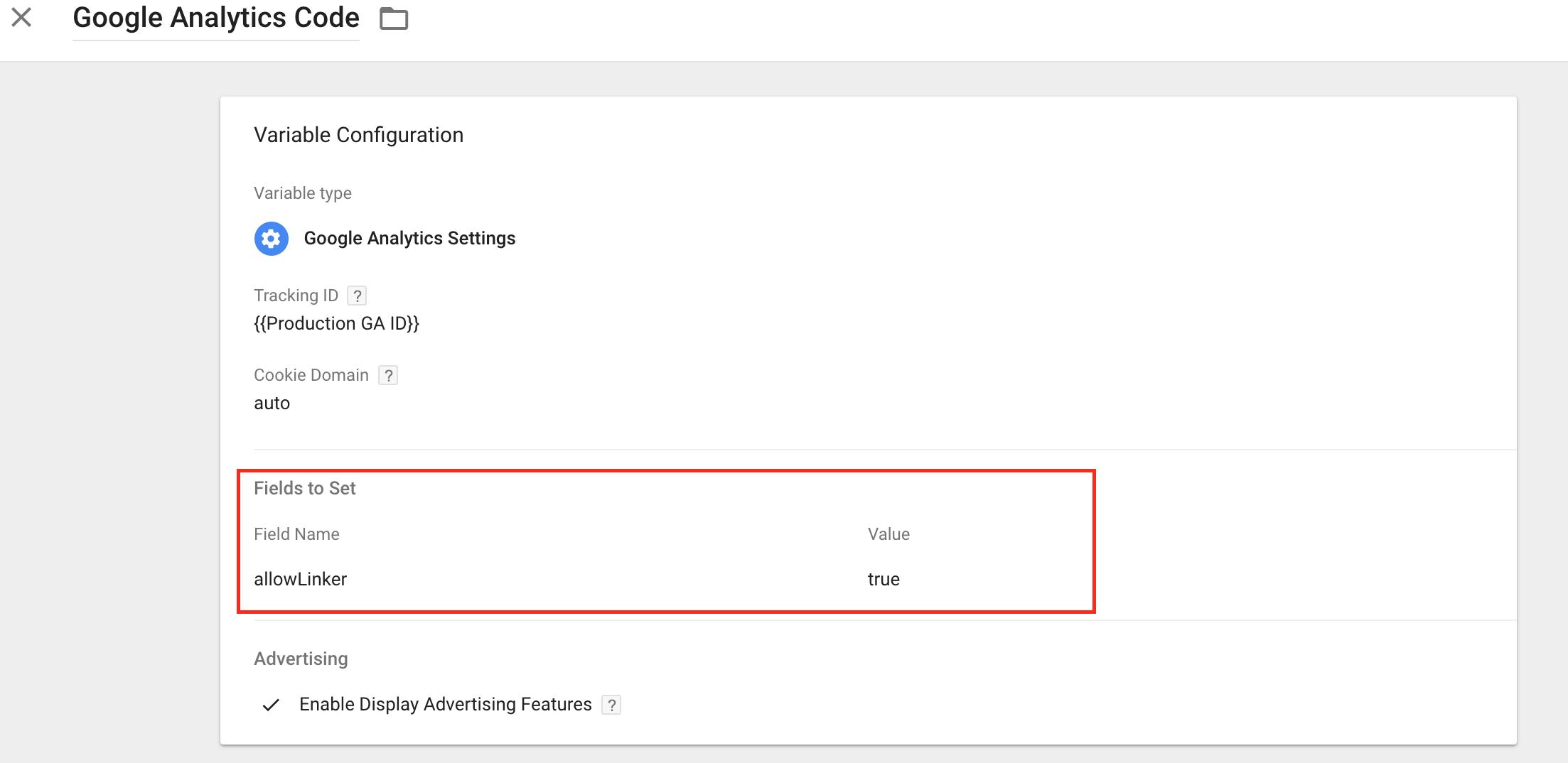 allowLinker set to true for google optimize