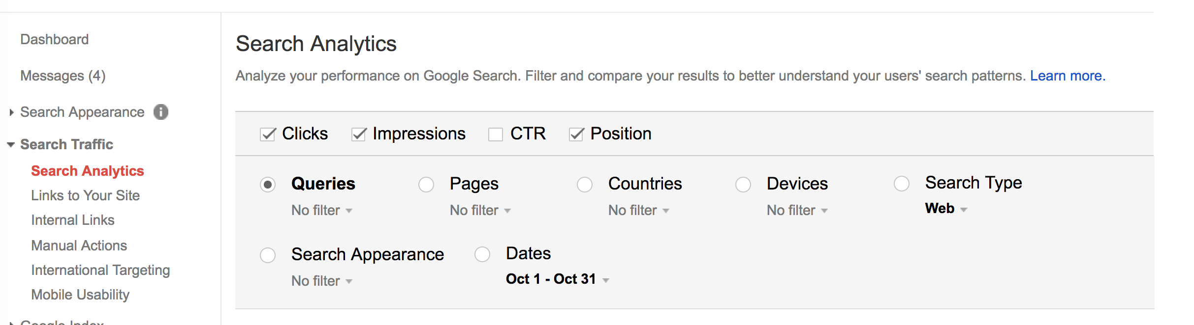 search analytics pre launch