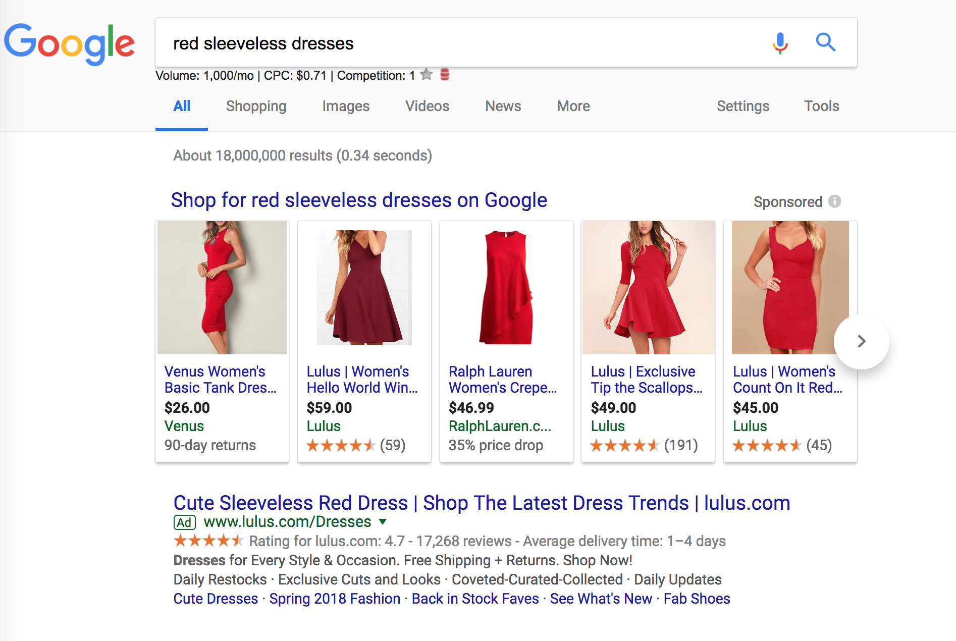red dress search