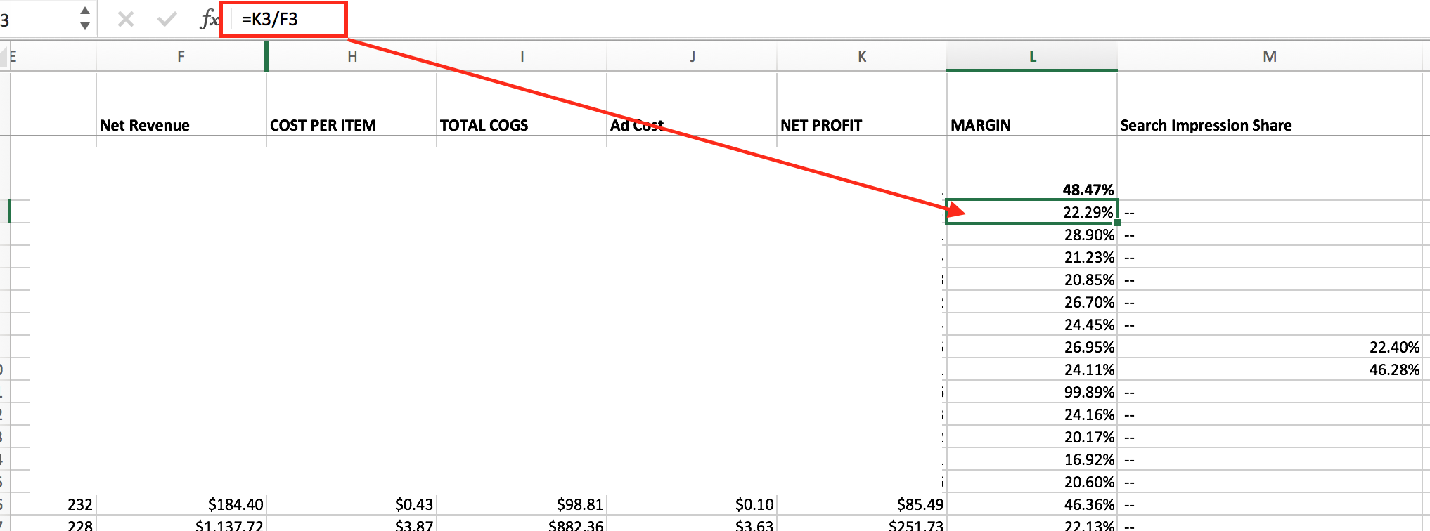 margin-column