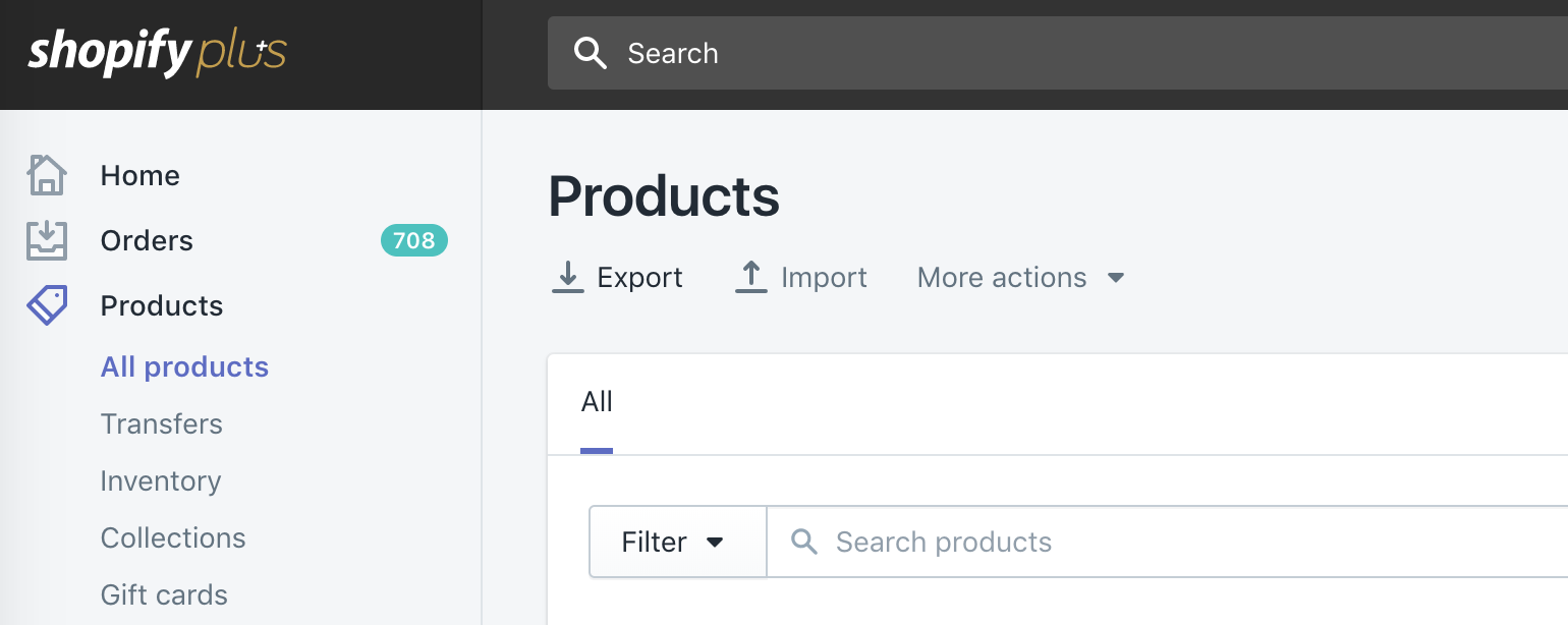 shopify plus product export