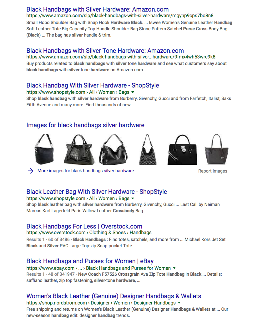 black handbags silver hardware