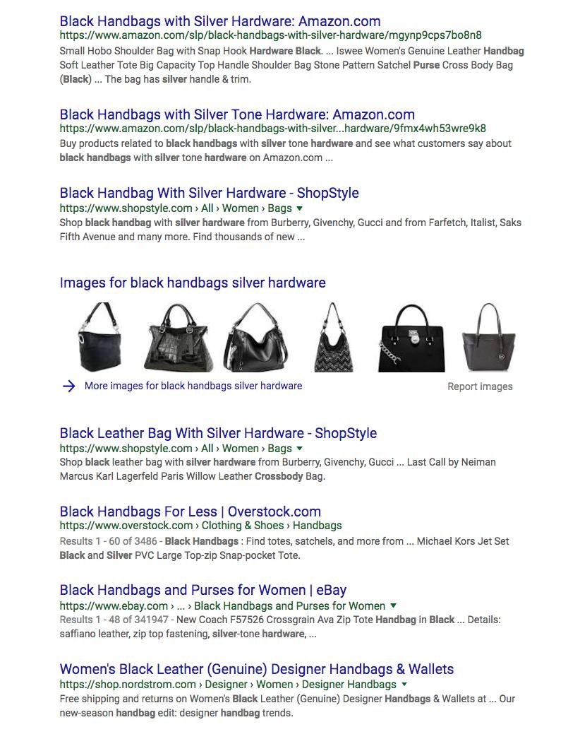 black handbags silver hardware