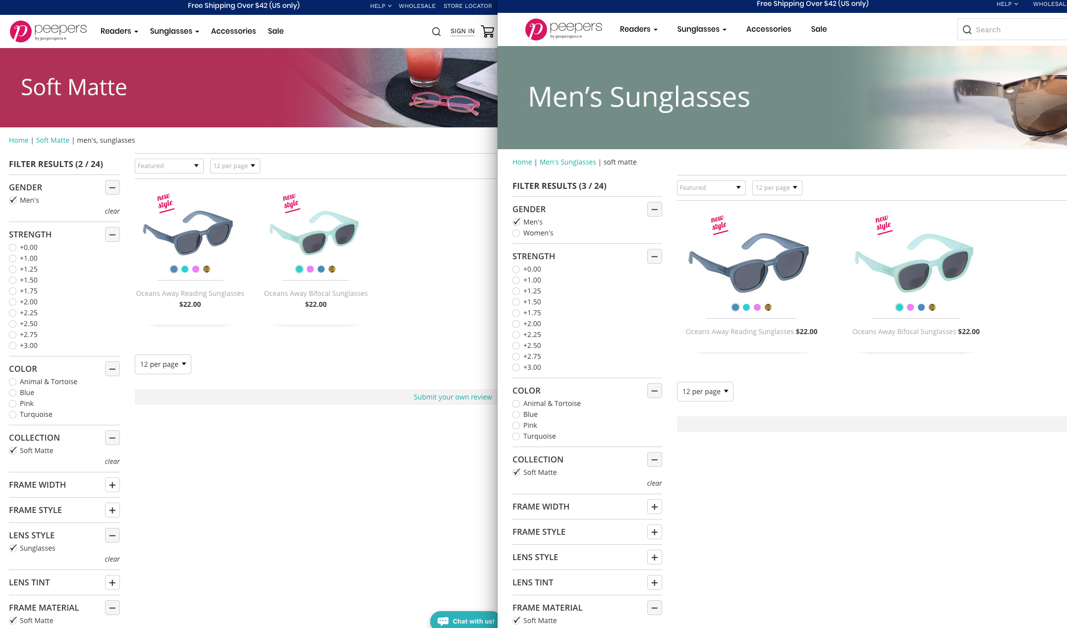 duplicate content example for shopify collection pages