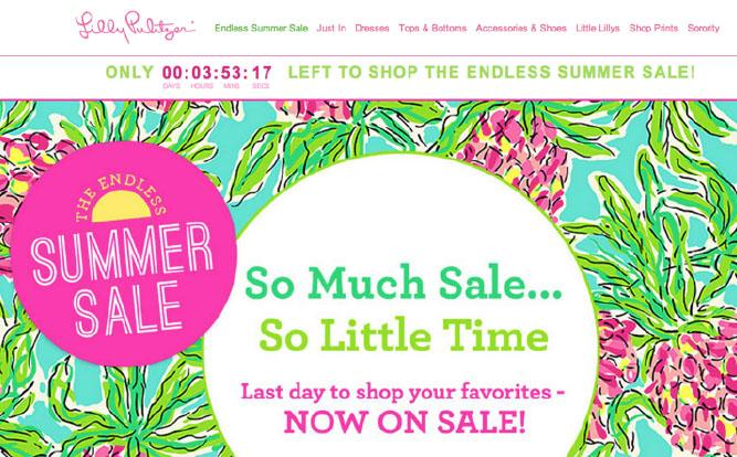 lilly pulitzer abandoned cart email
