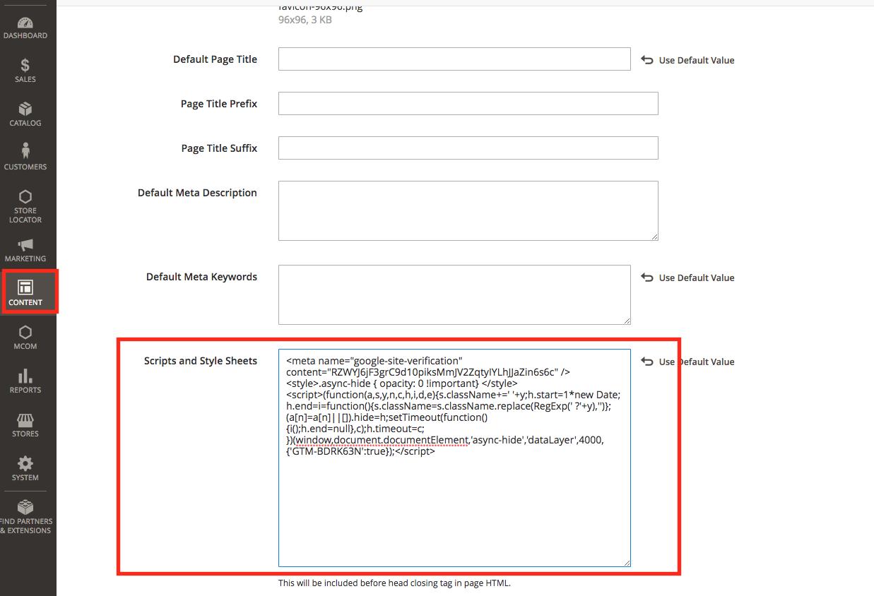 google optimize page flickering magento 2