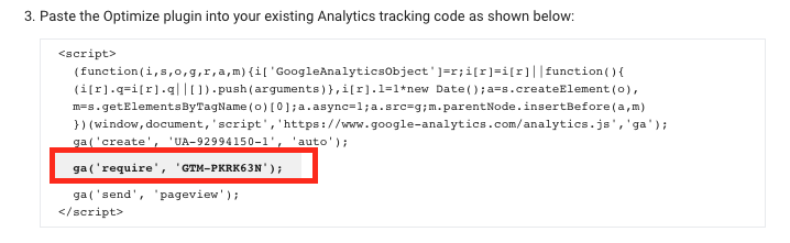 modify ga script for google analytics tracking
