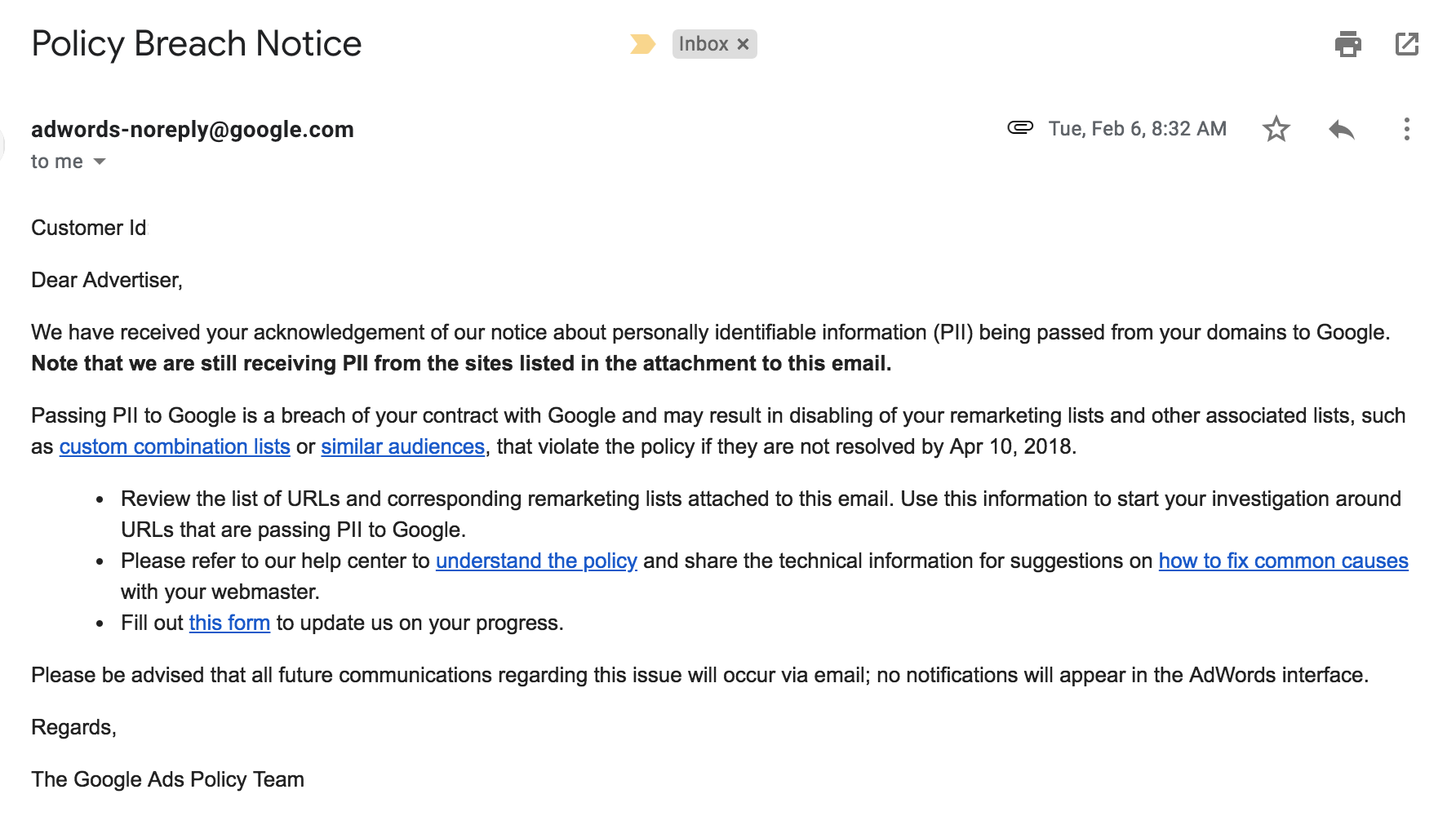 google-pii-policy-breach-notice