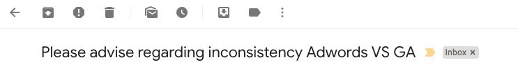 inconsistent adwords vs ga