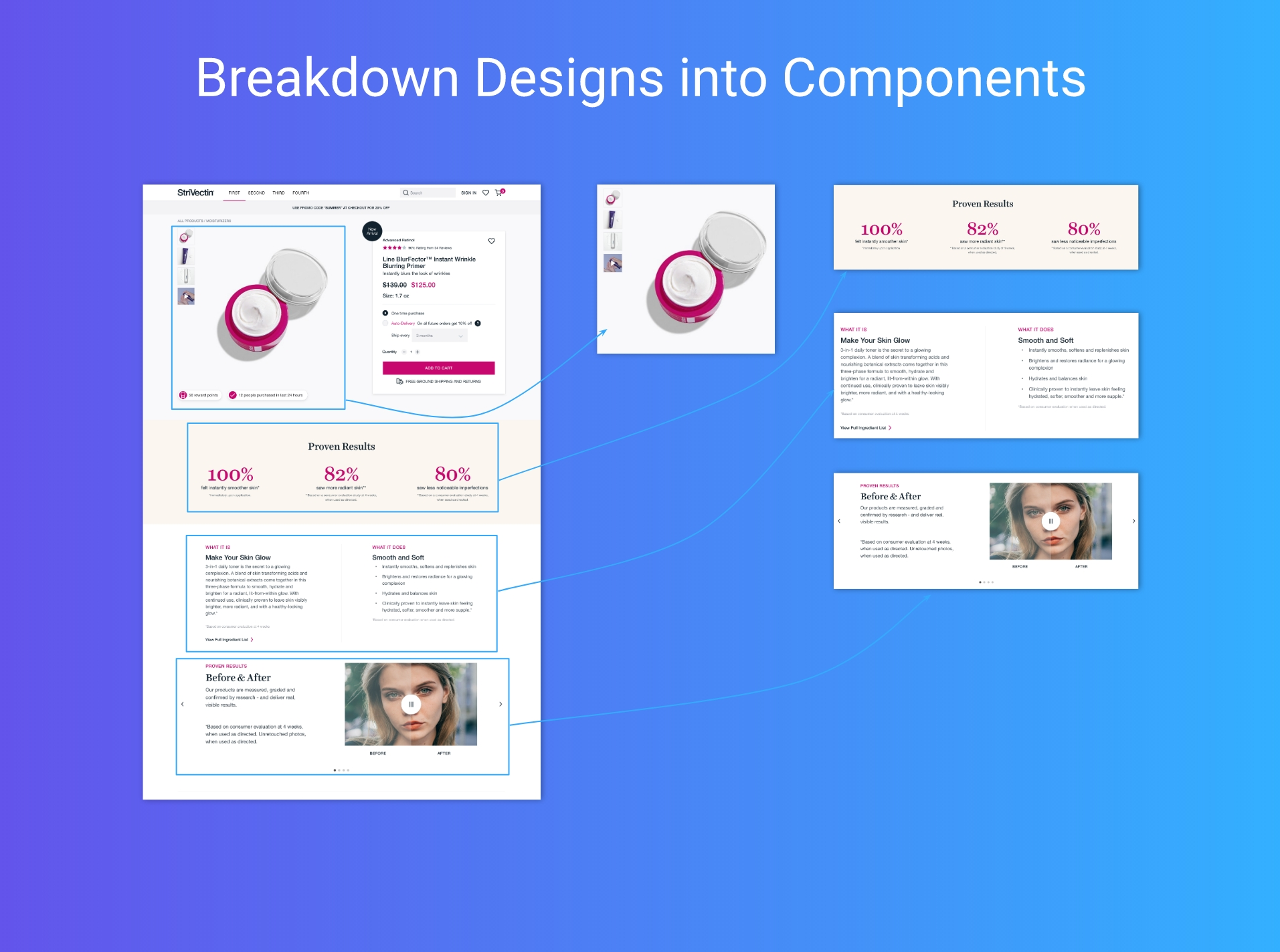 Breaking a page down into components