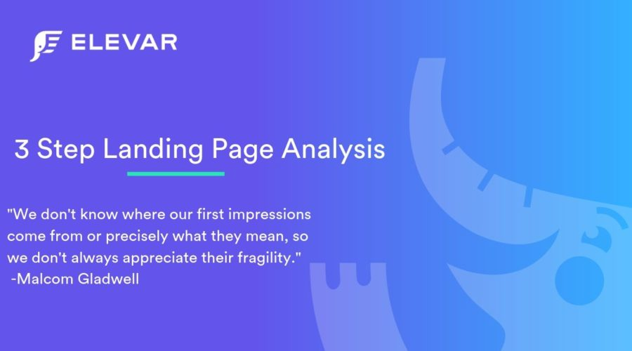 3 Step Landing Page Analysis
