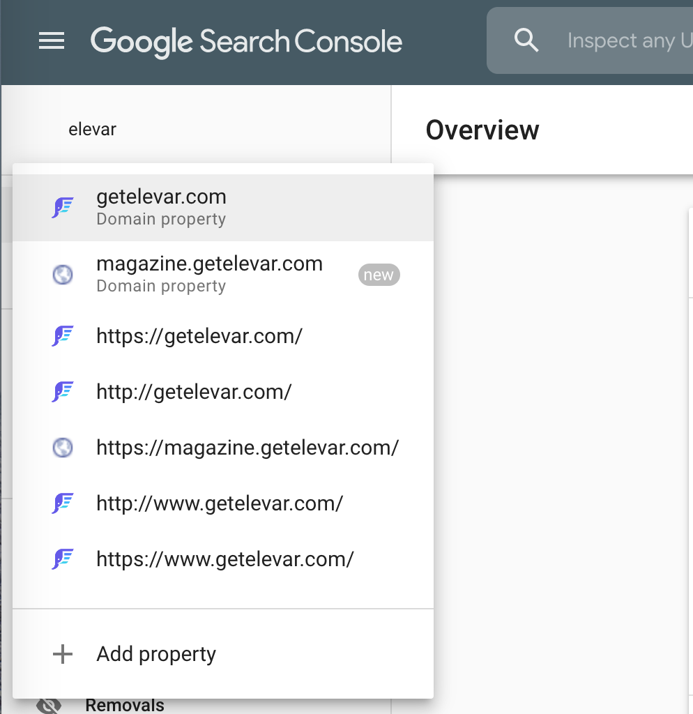 webmaster tool URLs