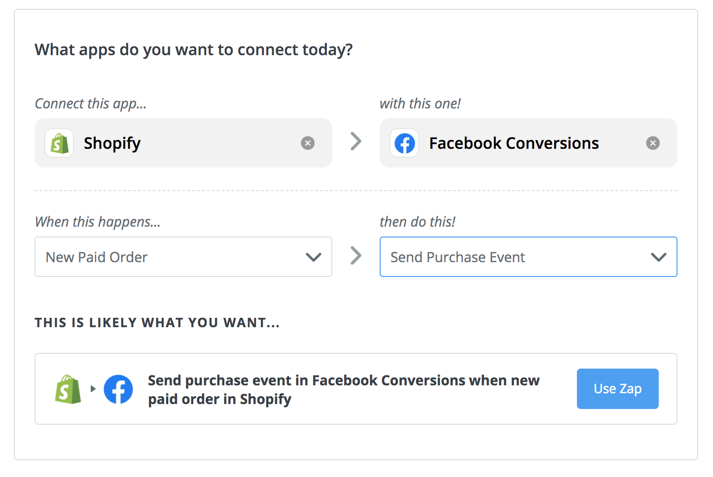 zapier-shopify-fb-conversions